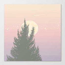 Evening Moonrise Canvas Print
