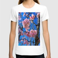 portland T-shirts featuring Portland Sakura by Casey J. Newman