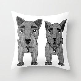 Dawgs Throw Pillow