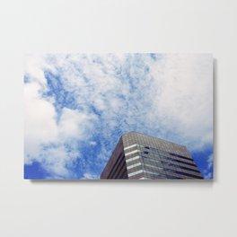 Sky on Building Metal Print