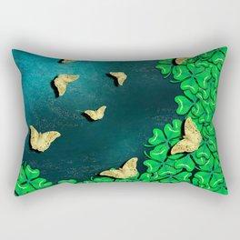 clover and butterflies Rectangular Pillow