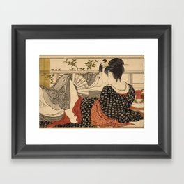 Lovers In The Upstairs Room Framed Art Print