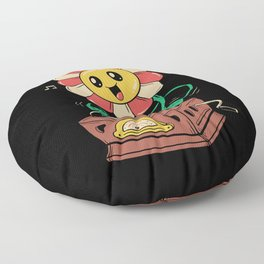 Vinyl Flower Floor Pillow