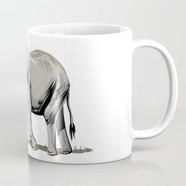 Elephant Wearing Tiny Top Hat Coffee Mug