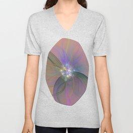 Fairy Blossom Fractal Unisex V-Neck