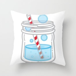 Pop of Summer Throw Pillow