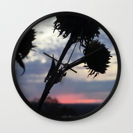 Dying Flower Wall Clock