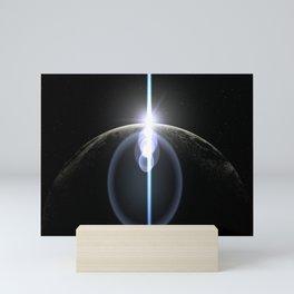 moon lens flare Mini Art Print