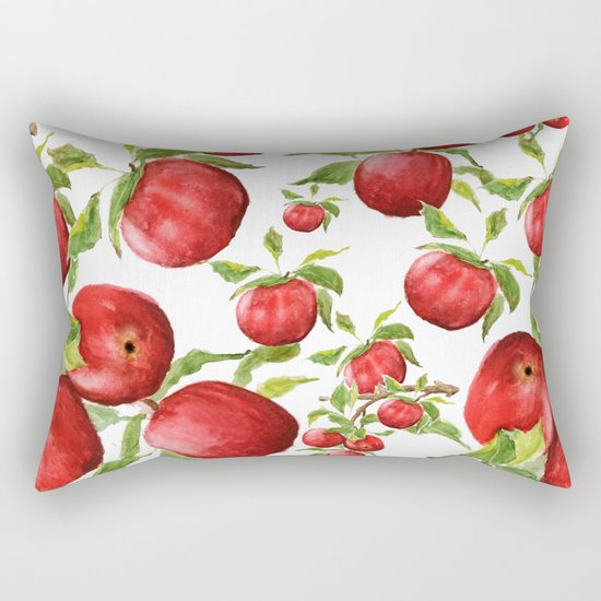 red apple Rectangular Pillow
