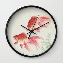 Oriental Goldfish illustration Wall Clock