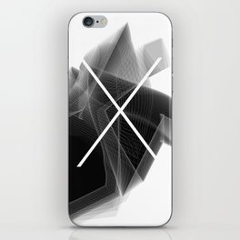 Typographic Treatment of the letter X. Dark Math X. iPhone Skin