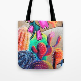 Cactus Graffiti  Tote Bag