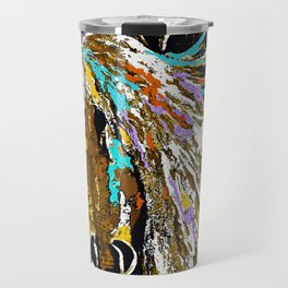 Horse Abstract Oil Painting Travel Mug
