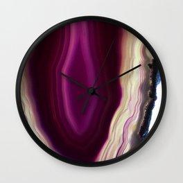 Dark side Agate Wall Clock