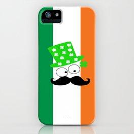 Irish mustache man st.Patty's day iPhone Case