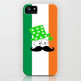 Irish mustache man st.Patty's day iPhone Case