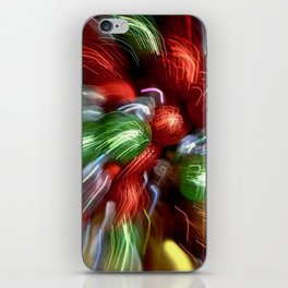 Abstract Red & Green Motion Blur iPhone Skin