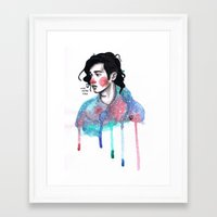 matty healy Framed Art Prints featuring Matty by The vintage icon