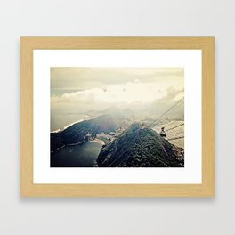 explore. {minus typography Framed Art Print