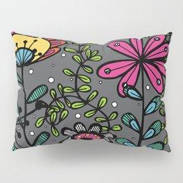 Weird and wonderful (Garden) - fun floral design, nature, flowers Pillow Sham