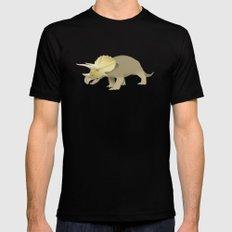 Triceratops Mens Fitted Tee MEDIUM Black