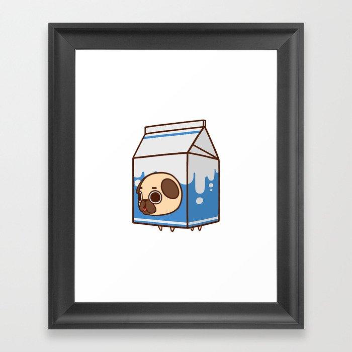 Puglie Milk Carton Framed Art Print by puglie | Society6