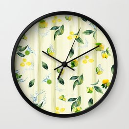 Refreshing Citrus Splash Wall Clock