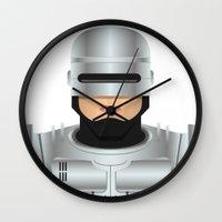robocop Wall Clocks featuring Robocop by Capitoni