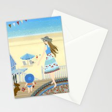 Family vacation at the beach Stationery Cards