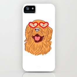 Hearty Shirt For Any Dog Lover T-shirt Design Paws Animals Animal Paw Pet Heart Eyeglasses Adorable iPhone Case