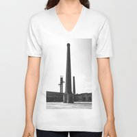 industrial V-neck T-shirts featuring Industrial by Renata's Photobox