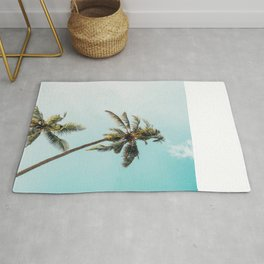 Palm Tree Beach Summer Rug