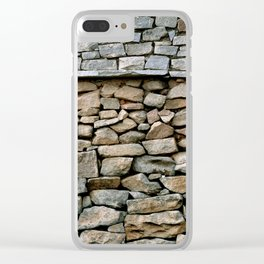 Stone Wall in Southern India (Karnataka & India & Travel) Clear iPhone Case