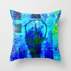 No Way No How < The NO Series (Blue) Throw Pillow