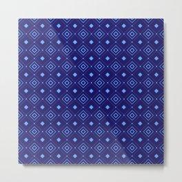 Diamond (Blue) Metal Print