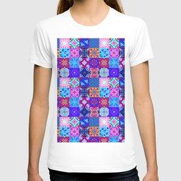 Bohemian Jungle Quilt Tiles 2 T-shirt