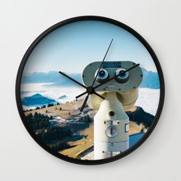 Alps of Switzerland Viewpoint Wall Clock