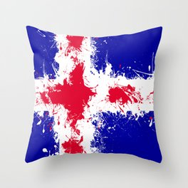 in to the sky, iceland Throw Pillow