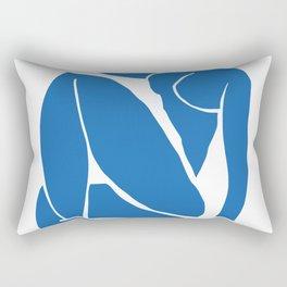 Matisse Cut Out Figure #3 Light Blue Rectangular Pillow