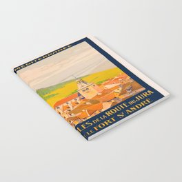 Vintage poster - Route du Jura, France Notebook