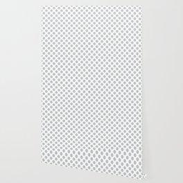Light Grey Polka Dots Pattern Wallpaper