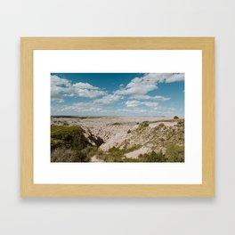 Red Shirt Table - Badlands National Park Framed Art Print