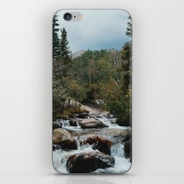 Rocky Mountain river iPhone Skin