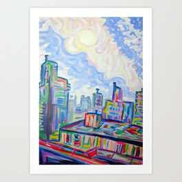 The West End, Vancouver Art Print