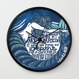 Anais Nin Mermaid Depths Wall Clock