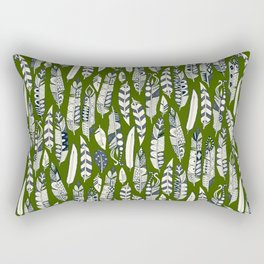 joyful feathers green Rectangular Pillow