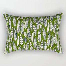 joyful feathers green Rectangular Pillow