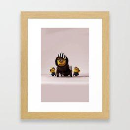 MINION LIFE: JUST FRIENDS Framed Art Print