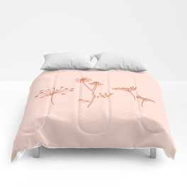 Wildflower Line Art Comforters