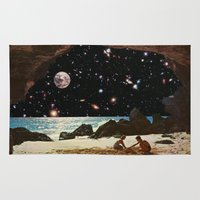 50s Area & Throw Rugs featuring it's always sunny in space by Blaz Rojs